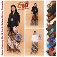 Celana Kulot Katun Dewasa Motif Batik Jumbo, Celana Panjang Dewasa