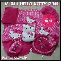 SARUNG JOK MOBIL AYLA 18IN1 HELLO KITTY PINK . COVER JOK MOBIL AYLA