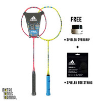 Adidas Spieler E08.1 Schock ( Free String + Grip / Raket Badminton )