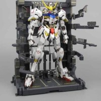 MS Cage Gundam MG RG HG diorama hangar stand action base + decal