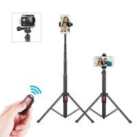 55 inch Fleksibel Tripod Selfie Stick Dukungan Berdiri dengan Remote