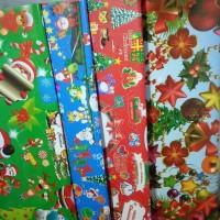 Kertas Kado Wrapping Gift Paper Natal Bagus 10pcs Ready Stock