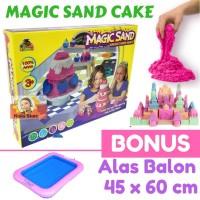 Pasir Ajaib MAGIC SAND CAKE BONUS ALAS BALON Paket Murah