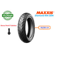 BAN MOTOR MATIC TUBELESS 90/80-14 MAXXIS DIAMOND MA-3DN