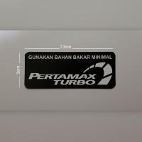Sticker kaca mobil PERTAMAX TURBO