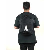 Bape Summer Bag Backpack Premium - Black 100% Authentic