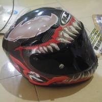 Helm KYT K2R Carbon decal HJC Venom 2 not AGV ARAI SHARK SUOMY NOLAN