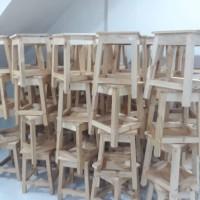 kursi kayu/bangku kotak/bangku bulet