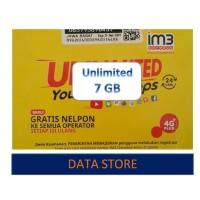 Perdana Indosat 7 GB FREEDOM U
