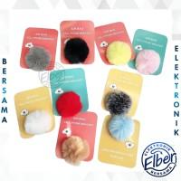 ELBER POP SOCKET WARNA 3D POMPOM POP SOCKET BULU AKSESORIS HP MURAH