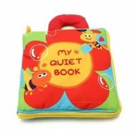 My Quiet Book A / Soft Cloth Book/ Buku Kain Edukasi/ Mainan Bayi