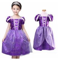 Princess Rapunzel Dress Costume | Baju Kostum Putri Anak