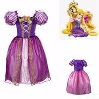 Princess Rapunzel Dress Costume | Baju Kostum Putri Anak - DRESS ANAK