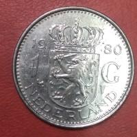 uang kuno koin asing 1 gulden Belanda 1980 TP 1957
