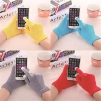 glove touch screen sarung tangan wool winter tebal sarung tangan rajut