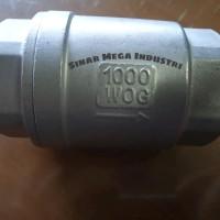 Tusen Klep SS 316 Ukuran 1/2 - Check valve spring 1000 WOG