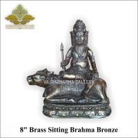 Patung/Rupang/Arca Dewa Brahma 8 Brass Sitting Brahma Bronze/Perunggu