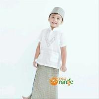 bajuMuslim Baju Koko Anak Balita Lengan Pendek Bordir Putih 1- 7