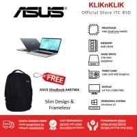 TERMURAH Laptop Asus VivoBook A407MA-BV001T-STAR GREY-N4000-4GB-1TB
