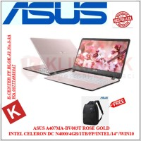 Laptop ASUS VivoBook A407MA-BV003T Rosegold N4000-4GB-1TB-14 HD-Win1