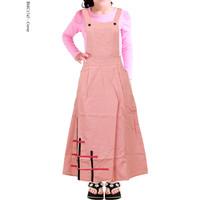 Gamis Overall Anak Dress Jumpsuit Baju Kodok Bahan Katun cigaret