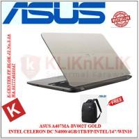 Laptop ASUS VivoBook A407MA-BV002T GOLD Intel Dualcore N4000-4GB-1TB