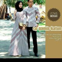 seragam baju batik gamis muslim/dress muslim wanita coupel