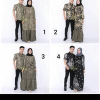 baju batik coupel/gamis batik muslim model terbaru/coupel batik
