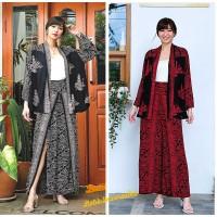Setelan Batik Wanita Cardigan Celana Kulot Wanita - Pagoda Prg