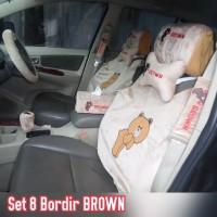 SET BANTAL TISSUE TISU STIR SETIR MOBIL BONEKA BEAR KREM CREM COKLAT 8