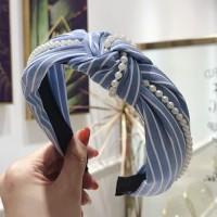 bando stripe garis pearl mutiara bandana headband turban vintage korea