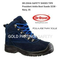 SEPATU SAFETY Dr. OSHA 3238 president ankle boot (SUEDE) 💯% HD
