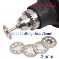 5pcs Cutting Disc Diamond 25mm Mata Gerinda Potong Mini Grinder