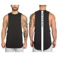 BACKLIST LOWCUT - Singlet Gym Fitnes Kaos Training Pria baju olahraga