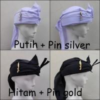 Ikat iket kepala tradisional pin kujang blangkon Sunda IKAT-PIN KJ FUL