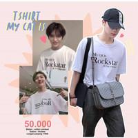 BTS Army Kaos Wanita KPOP My Cat is Rockstar T-shirt Recommended Hits