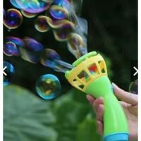 Mainan Tembakan Gelembung Pistol Balon Tiup Busa Sabun Bubble Kado