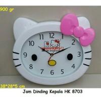 Terpopuler ! JAM DINDING HELLO KITTY KEPALA 8703 - JUMBO 5758