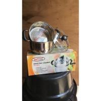 2in1 Panci Sauce Pan + Kukus Steamer 20cm / Wincook / Stainless steel