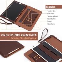 iPad Pro 10.5 2018 - iPad Air 3 2019 - Organizer Diary Leather Case