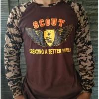 Baju Kaos Lapangan Loreng Pramuka Scout 008