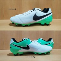 Nike Tiempo Genio II FG - White Green | Sepatu Bola Nike BNIB Murah