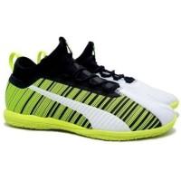 Sepatu Puma One 5.3 IT - White/Black/Yellow Alert