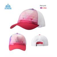 Aonijie E4106 Cap Hat Mesh - Topi Sport Lari Sepeda Golf - RED PINK