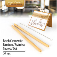 Sikat Sedotan / Sikat Sedotan Bambu/Stainless Straw