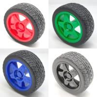 Roda Robot Smart Car Wheel Ban 65mm High Quality Roda Motor Gearbox