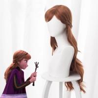 Wig Frozen 2 Anna Dua ll Aksesoris Rambut Palsu Anak Cosplay Princess