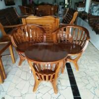 kursi teras mangkok dari kayu jati