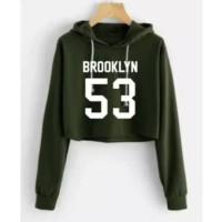 sweater crop wanita hoodie hoody baju croptop longsleeve anak remaja