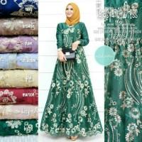Farasya Dress Tile 94 Original Gamis Brokat Baju Gamis Terbaru 2020